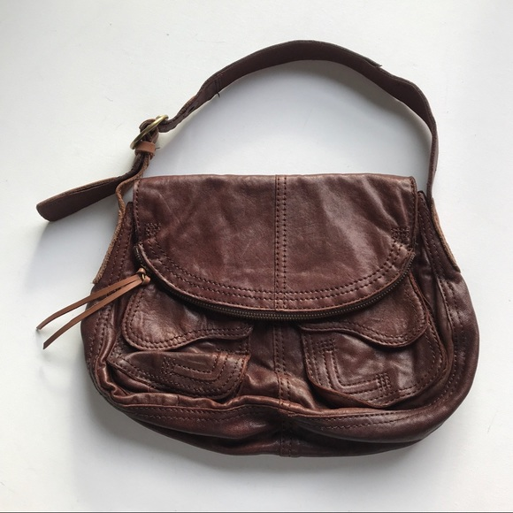 Lucky Brand Handbags - Lucky Brand Shoulder Satchel Saddle Bag Leather